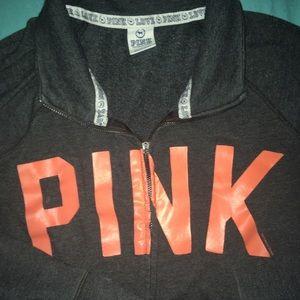 Victoria's Secret PINK zip up sweatshirt size L